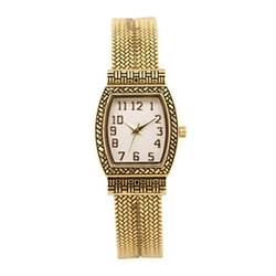 JCPenney - Womens Rectangular Textured Bangle Watch