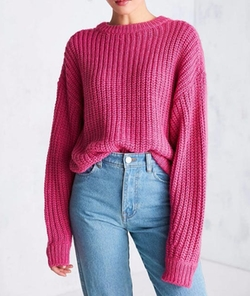 Urban Outfitters - BDG Ashley Waffle Stitch Crew Neck Sweater