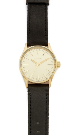 Nixon - The Sentry 38 Leather Watch
