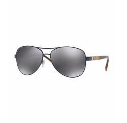 Burberry  - Mirrored Steel Aviator Sunglasses