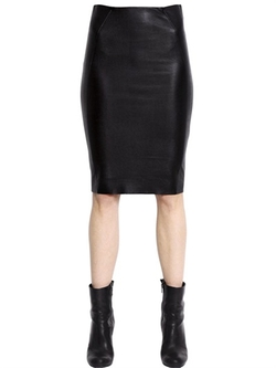 MCQ Alexander McQueen - Faux Leather & Jersey Pencil Skirt