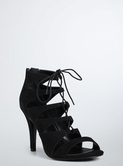 Torrid - Lace Up Cutout Booties