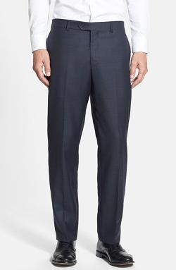 Nordstorm - Flat Front Wool Trousers