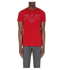 Armani Jeans - Eagle Logo-Print Cotton-Jersey T-Shirt