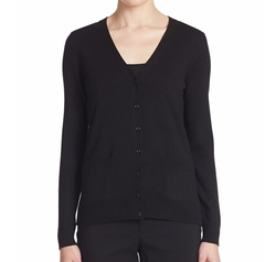 Lord & Taylor - Merino Wool Basic V-Neck Cardigan