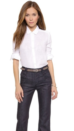 Three Dots - Double Gauze Buttondown Shirt