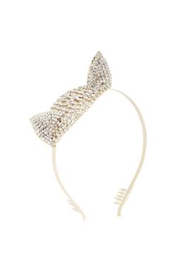 BCBGmaxazria - Stone-Detail Cat Ears Headband