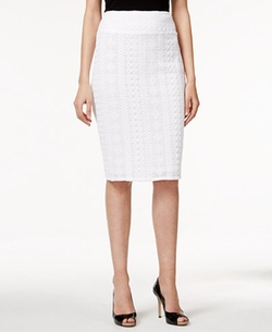 Alfani - Lace Pencil Skirt