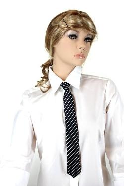 Noonies - Diagonal Stripes Skinny Zipper Tie