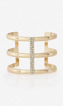Express - Triple Stripe Pave Cuff Bracelet