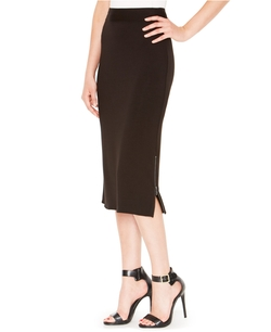 Kensie - French-Terry Midi Pencil Skirt