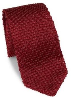 hook + ALBERT - Solid Silk Knitted Tie