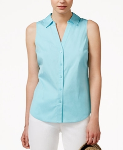 Maison Jules - Sleeveless Button-Down Shirt