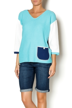 Margaret Winters - Reverse V-Neck Sweater