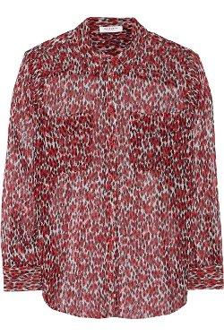 Equipment  - Leopard Print Silk Chiffon Shirt