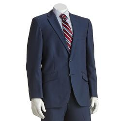 HAGGAR - 1926 Originals Tailored-Fit Cross-Dye Navy Suit Jacket