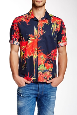 Diesel  - Erlwi Printed Trim Fit Short Sleeve Shirt