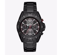 Michael Kors - JetMaster Black-Tone Carbon Fiber Watch