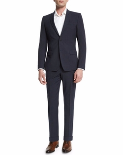 Versace - Birdseye Textured Two-Piece Suit