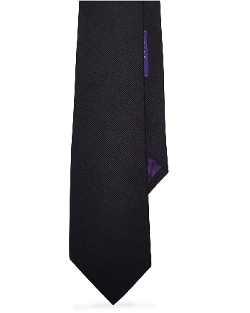 Ralph Lauren Purple Label - Solid Silk Repp Tie