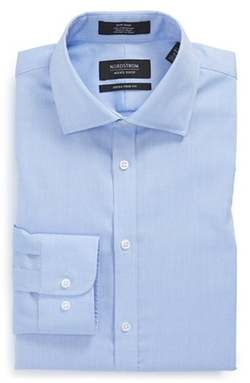 Nordstrom - Extra Trim Fit Non-Iron Solid Dress Shirt