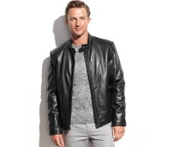 Marc New York - Sam Smooth Leather Moto Jacket