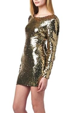 Pretty Little Things - Sequin Drape Dress