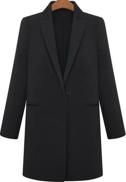 Vshop-2000 - Lapel Woolen Coat