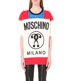 Moschino  - Logo-Print Cotton-Jersey T-Shirt