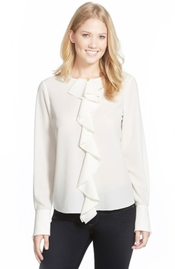 Ellen Tracy - Ruffle Placket Blouse