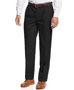 Lauren Ralph Lauren - Solid Wool-Blend Pleated Dress Pants