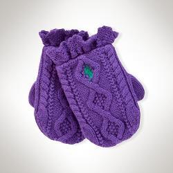 Ralph Lauren - Aran-Knit Ruffled Mittens