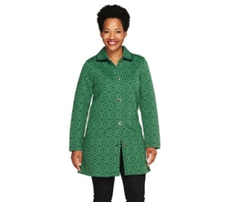 Isaac Mizrahi - Geo Floral Jacquard Knit Jacket