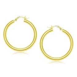 Trendy - Yellow Gold Classic Earrings