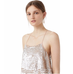 Mango - Sequined Strap Top