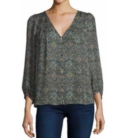 Joie - Celosia 3/4-Sleeve Paisley Silk Top