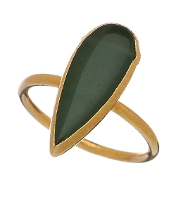 Janna Conner - Gold Lidia Aventurine Ring