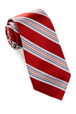 Alara - Silk Satin Rib Stripe Tie