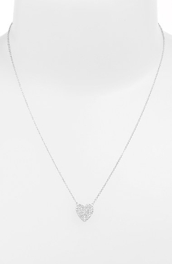 Sugar Bean Jewelry - Boxed Pavé Heart Pendant Necklace