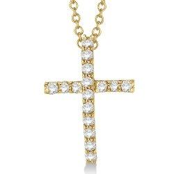 Allurez  - Diamond Cross Pendant Necklace