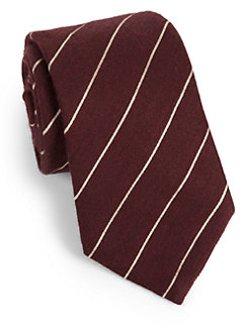 Armani Collezioni - Striped Wool & Silk Tie