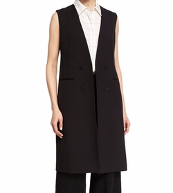 Theory  - Aggie Contour Open-Front Wool Vest