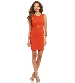 Gianni Bini - Cross-Front Twill Sheath Dress