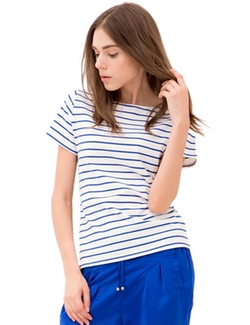 Only Faith  - Stripe Short Sleeve Shirt
