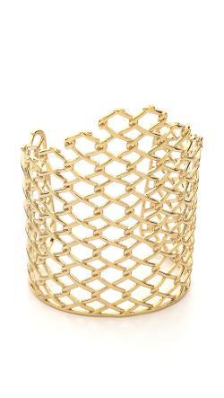 Alexis Bittar  - Asymmetrical Barbed Link Cuff Bracelet