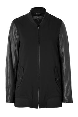 Rag & Bone - Leather Sleeve Pacific Jacket