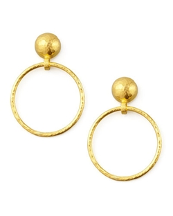 Gurhan - Geo Hoop-Drop Earrings