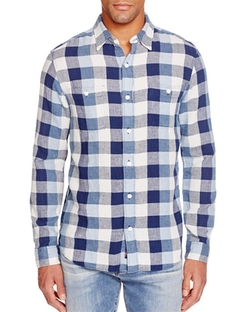 Faherty  - Seasons Check Regular Fit Button Down Shirt