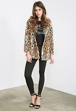 Forever 21 - Leopard Faux Fur Coat