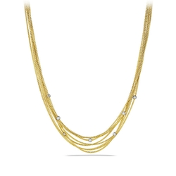 David Yurman - Eight-Row Chain Necklace With Diamond Beads